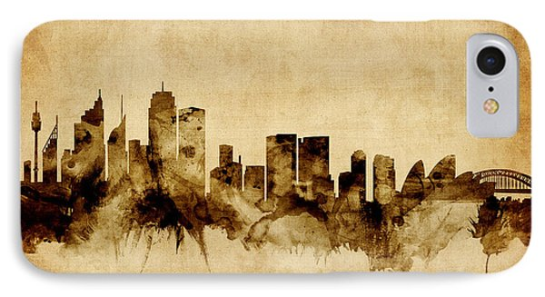 Sydney Australia Skyline IPhone 7 Case by Michael Tompsett