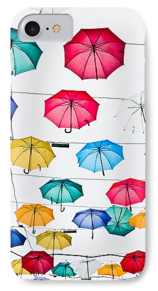 Umbrellas IPhone Case by Tom Gowanlock