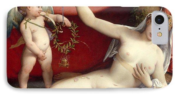 Venus And Cupid IPhone Case