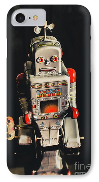 70s Mechanical Android Bot  IPhone Case by Jorgo Photography - Wall Art Gallery
