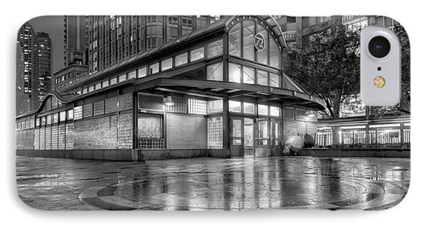 72nd Street Subway Station Bw IPhone Case by Jerry Fornarotto