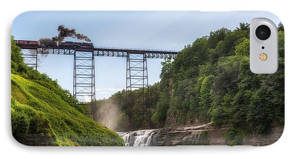 IPhone Case featuring the photograph 765 Over Upper Falls by Mark Papke