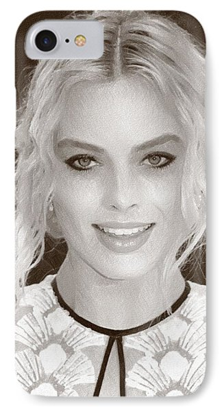 Actress Margot Robbie IPhone Case by Best Actors