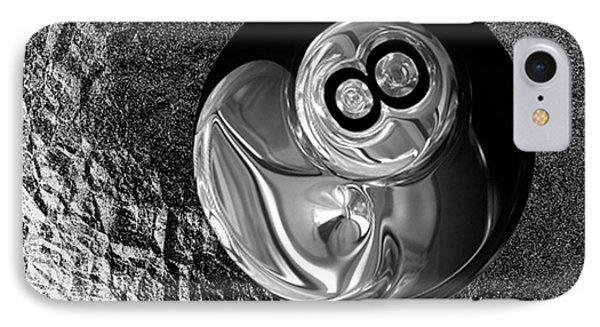 8 Ball IPhone Case by Jack Zulli