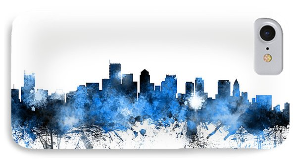 Boston Massachusetts Skyline IPhone Case by Michael Tompsett