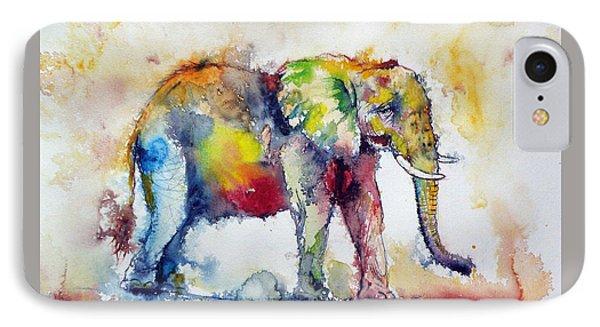 Big Colorful Elephant IPhone Case by Kovacs Anna Brigitta