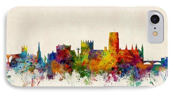 Durham England Skyline Cityscape IPhone Case by Michael Tompsett