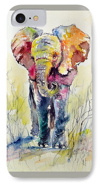 Elephant IPhone Case by Kovacs Anna Brigitta