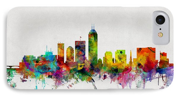 Indianapolis Indiana Skyline IPhone Case