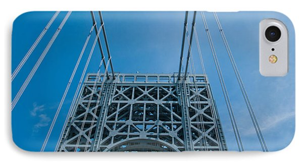 Low Angle View Of A Suspension Bridge IPhone Case