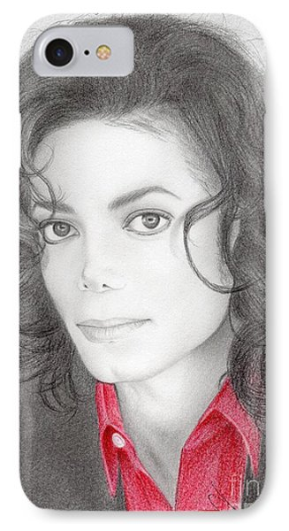 Michael Jackson #two IPhone Case by Eliza Lo