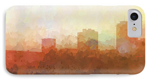 IPhone Case featuring the digital art New Orleans Louisiana Skyline by Marlene Watson
