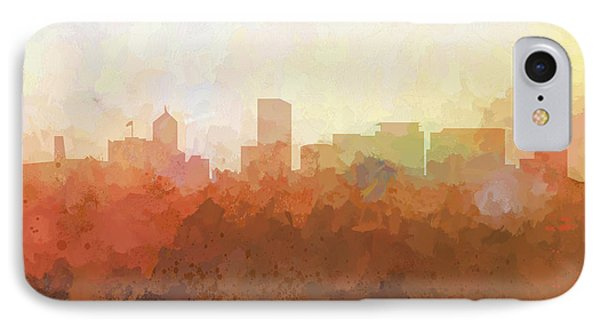 IPhone Case featuring the digital art Portland Oregon Skyline by Marlene Watson