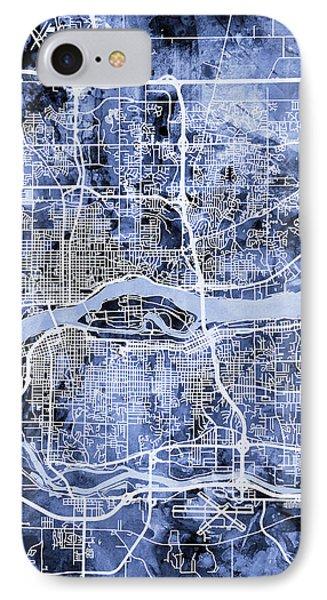 Quad Cities Street Map IPhone Case