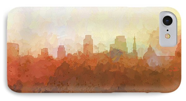 IPhone Case featuring the digital art Sacramento California Skyline by Marlene Watson
