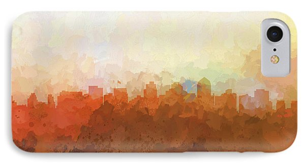 IPhone Case featuring the digital art San Diego California Skyline by Marlene Watson