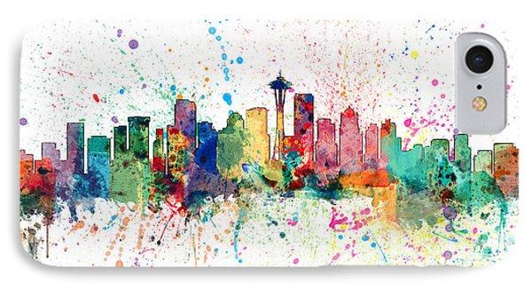 Seattle Washington Skyline IPhone Case