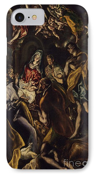 The Adoration Of The Shepherds IPhone Case by El Greco