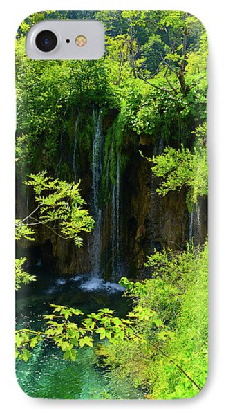 Waterfall In Plitvice National Park In Croatia IPhone Case