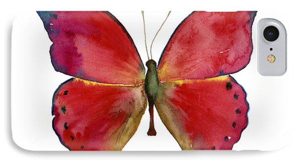 83 Red Glider Butterfly IPhone Case by Amy Kirkpatrick