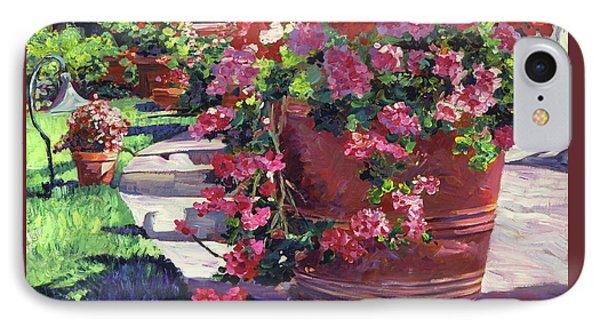 Geranium Color Pot IPhone Case by David Lloyd Glover