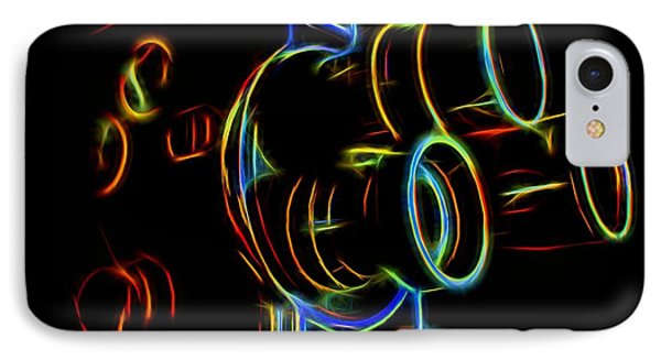IPhone Case featuring the photograph 8mm In Neon by Mark Miller