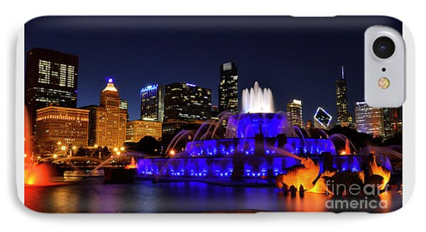 IPhone Case featuring the photograph 911 Tribute At Buckingham Fountain, Chicago by Zawhaus Photography