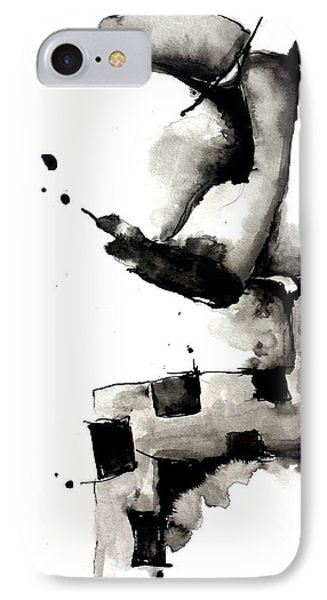 Abstract Ink Character IPhone Case by Nick Watts