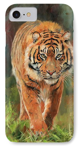 Amur Tiger IPhone 7 Case by David Stribbling