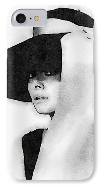 Audrey Hepburn IPhone Case by John Springfield