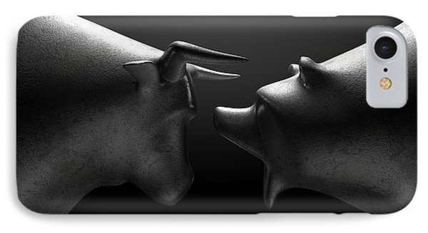 Bull Versus Bear IPhone Case