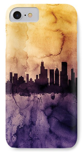 Chicago Illinois Skyline IPhone Case by Michael Tompsett