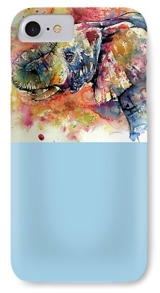 Colorful Elephant IPhone 7 Case by Kovacs Anna Brigitta