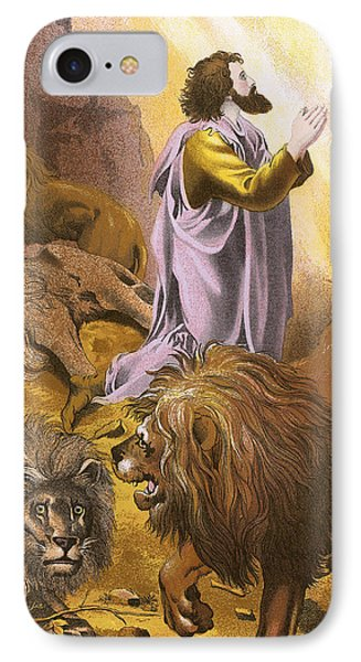Daniel In The Lion's Den IPhone Case by English School