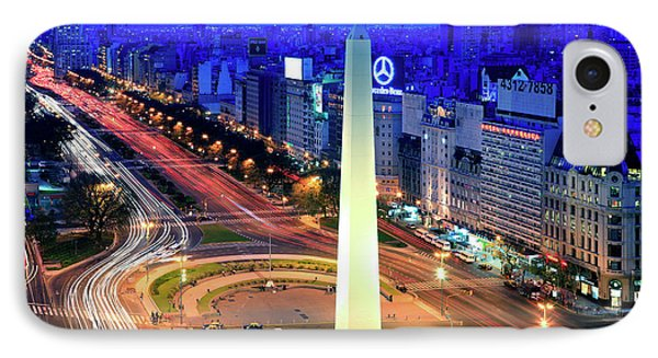 9 De Julio Avenue IPhone Case by Bernardo Galmarini