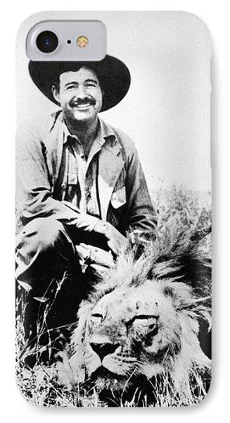 Ernest Hemingway Phone Case by Granger