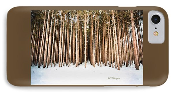 Michigan Winter IPhone Case by Jill Wellington
