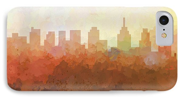 IPhone Case featuring the digital art Philadelphia Pennsylvania Skyline by Marlene Watson