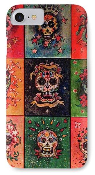 9 Skulls Phone Case by Dori Hartley
