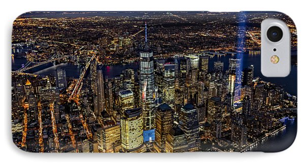 911 Tribute In Light In Nyc IPhone Case by Susan Candelario
