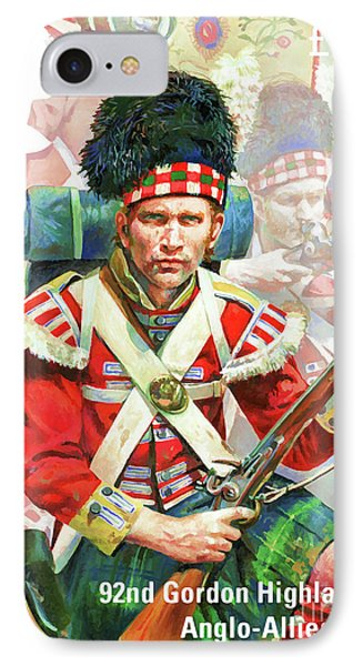 92nd Gordon Highlanders IPhone Case by Lanjee Chee