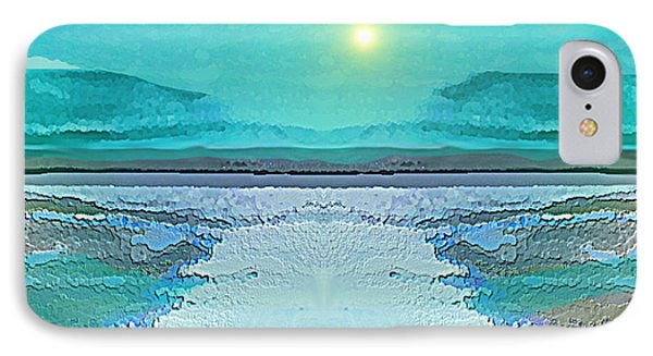 - 938 - Abstract Seascape - 2017  IPhone Case by Irmgard Schoendorf Welch