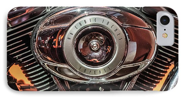 96 Cubic Inches Softail IPhone Case by Randy Scherkenbach