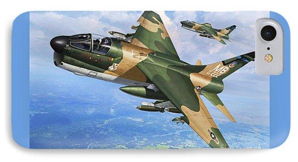 A-7d Corsair II IPhone Case by Stu Shepherd