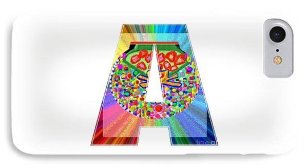A Aa Aaa Alpha Art On Shirts Alphabets Initials   Shirts Jersey T-shirts V-neck By Navinjoshi IPhone Case