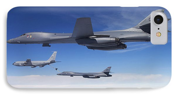 A B-1b Lancer Stands By As Another Phone Case by Stocktrek Images