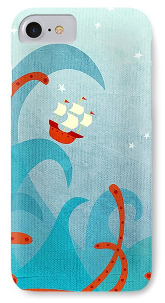 Boat iPhone 7 Case - A Bad Day For Sailors by Nic Squirrell
