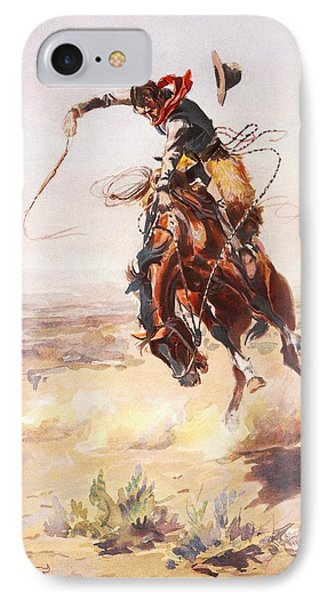 A Bad Hoss Phone Case by Charles Russell