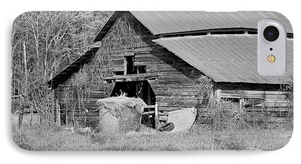 A Barn In Georgia IPhone Case by Kim Hojnacki