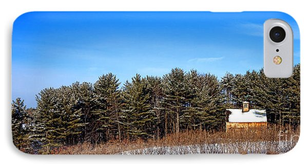 A Barn In The Snow In Maine IPhone Case by Olivier Le Queinec